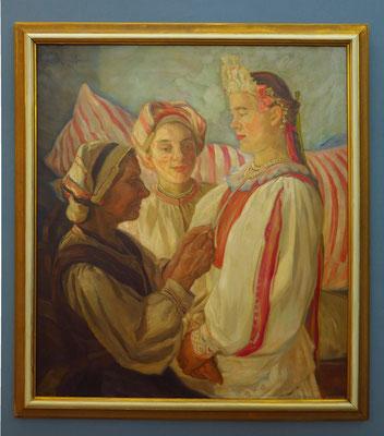Štefan Polkoráb: Bride from Hel'pa, Öl auf Leinwand, 1935-1936