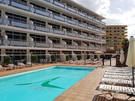 Apartamentos Strelitzias, unsere Unterkunft in Play del Inglés