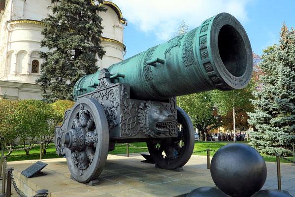 Zaren-Kanone von 1586, die nie einen einzigen Schuss abgegeben hat
