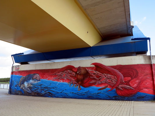 Graffito an der Stadtbrücke Frankfurt (Oder)