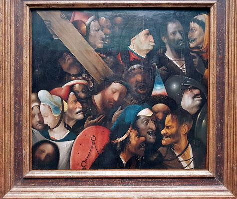 Hieronymus Bosch (ca. 1450 - 1516), Christus trägt das Kreuz, ca. 1510 -1516
