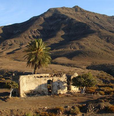 Ruine vor der Montaña Cardón, südlich von Pájara