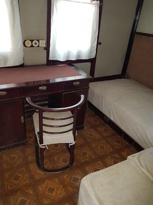 Stalins Eisenbahnwaggon, Schlafzimmer und Arbeitstisch