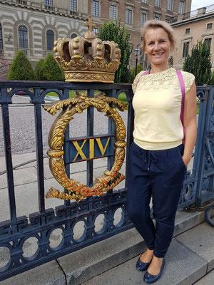 Vor dem Stockholmer Schloss