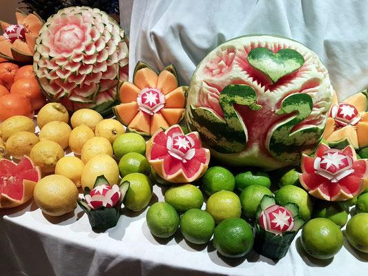 Dekoration aus Obst