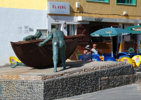 El Cotillo, Bar an der Muelle de los Pescadores am alten Hafen