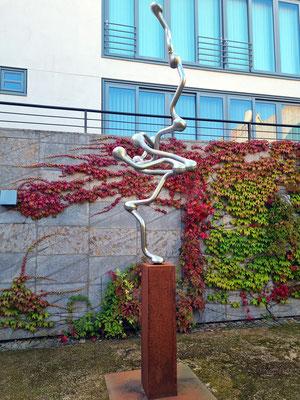"""""""Himmelssynapse"""", Skulptur von Peter Schäfer, 2011, Edelstahl, elektrochemisch poliert"""