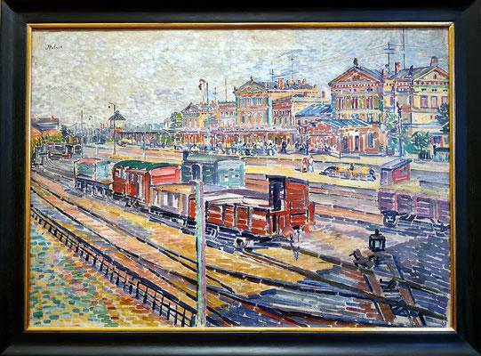 Moriz Melzer (1877-1966): Der alte Weimarer Bahnhof, um 1905