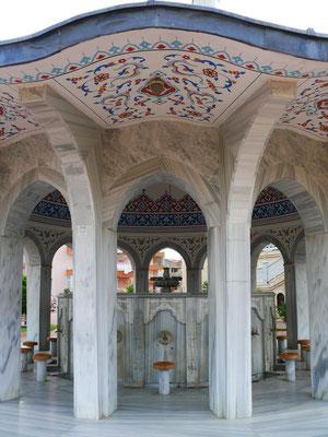 Brunnen für die rituelle Waschung vor dem Gebet in der Moschee