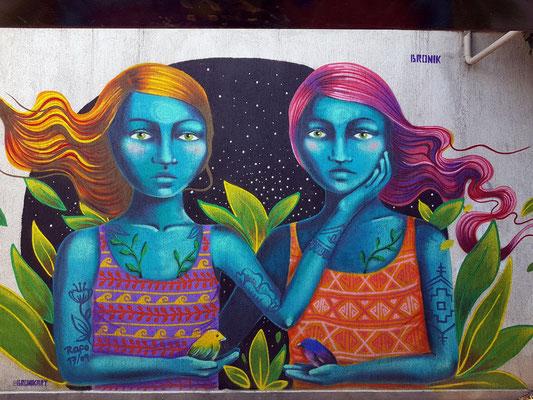 Grafiti in den Fußgängerbereichen