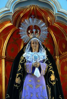 Mancha Blanca. Ermita de los Dolores mit dem Inselheiligtum, der Virgen de los Dolores