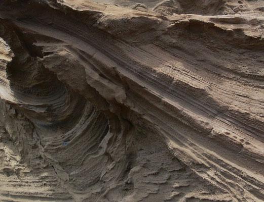 El Golfo, Lava- und Ascheschichten