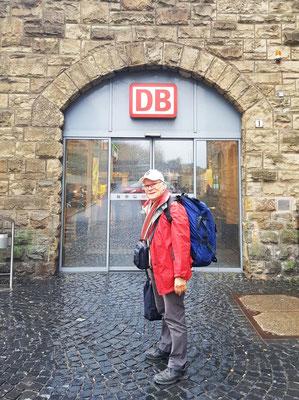 Beginn der Reise am Aachener Hauptbahnhof