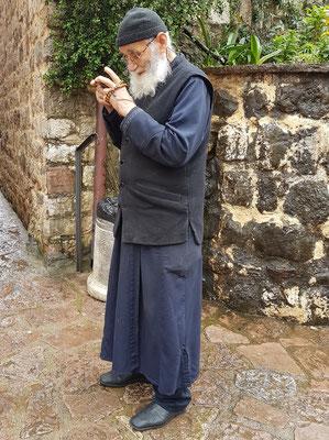 Alter Mönch des Klosters Podmaine