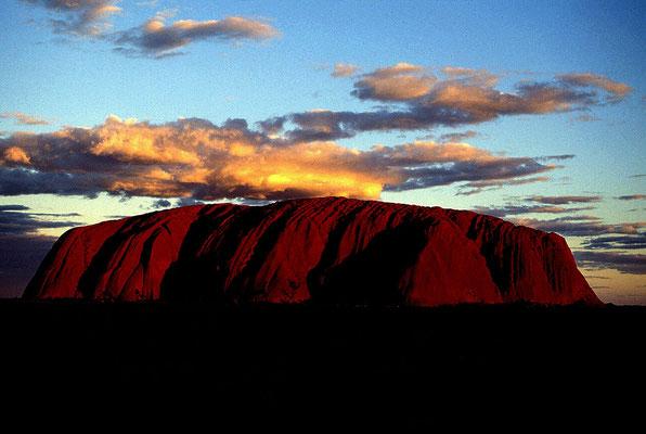 AUS Ayer's Rock, Sonnenuntergang