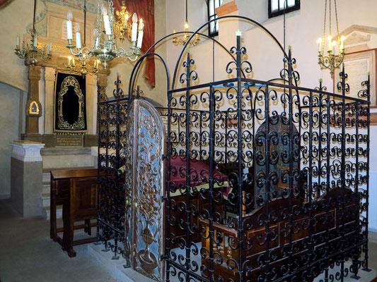 Innenansicht der Remuh-Synagoge, Kazimierz, Krakau