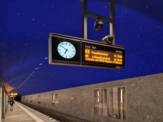 U-Bahnhof Museumsinsel mit Sternenhimmel