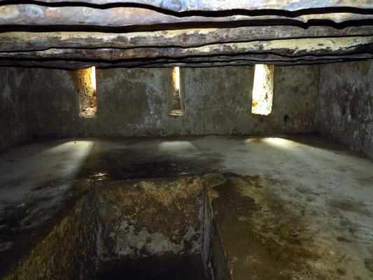 In den Kellerräumen wurden die Sklaven zusammengepfercht.