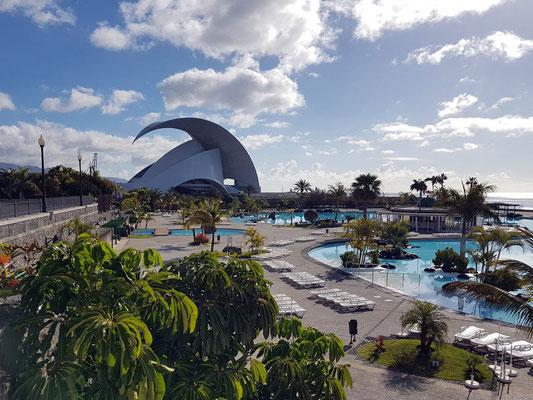 Santa Cruz de Tenerife. Auditorio und Parque Marítimo César Manrique