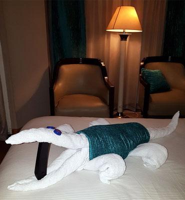 Auch in der Kabine lebt Sobek, der ägyptische Krokodilgott.
