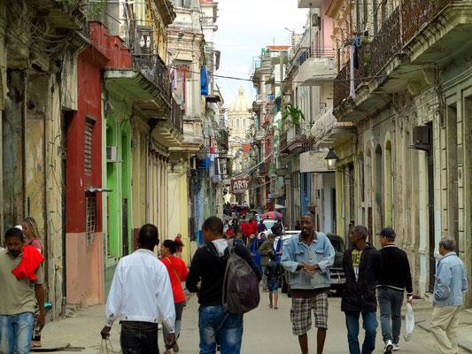 Calle Villegas, Blick nach N