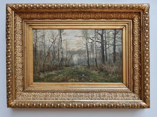 Karl Buchholz (1849-1889): Waldinneres (Frühling im Webicht), um 1880,  ein typisches Bild der Weimarer Malerschule