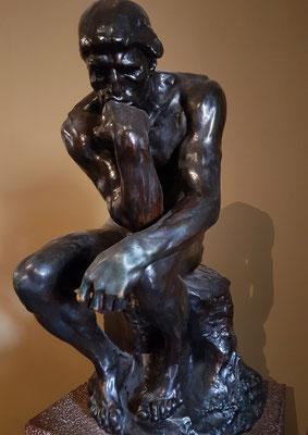 Auguste Rodin (1840-1917): Der Denker (1880-1882), Originalgröße 72 cm hoch, Bronze