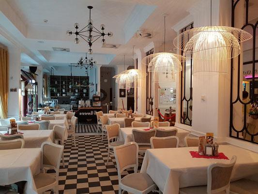 Frühstücksraum im Hotel Ottaviano