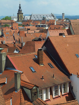 Dächer der Altstadt von Bamberg