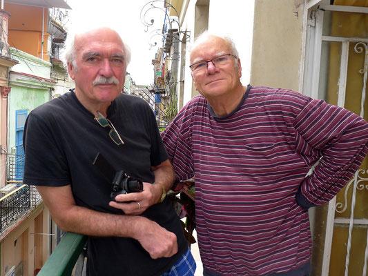 Bernd und Frank am 12.01.2018 vor der großen Kuba-Reise (Foto: Ursula Kelm)