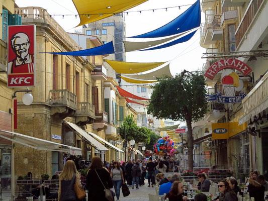 Flaniermeile Ledras im südlichen griechisch-zypriotischen Teil der Altstadt