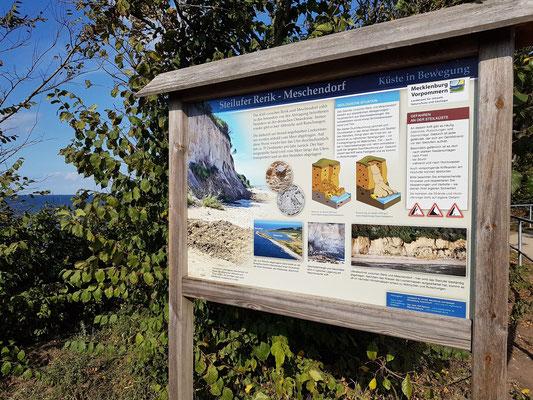 Schautafel zur Entstehung der Steilküste