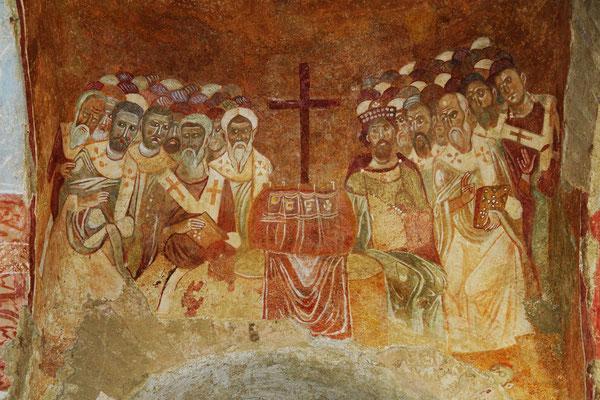 Das Erste Konzil von Nicäa - Fresko in der Kirche