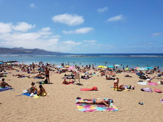Las Palmas, Playa de Las Canteras um 16 Uhr