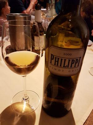 """Exzellenter trockener Weißwein """"Philippi Pinot Gris"""", Jahrgang 2000"""