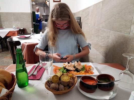 Im Fischrestaurant El Túnel in San Andrés
