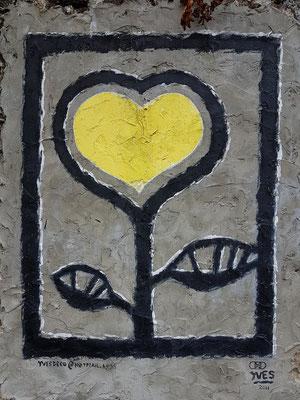 """Yves Decoster, belgischer """"Künstler mit Herz"""", der seit 1988 auf São Miguel beheimatet ist."""