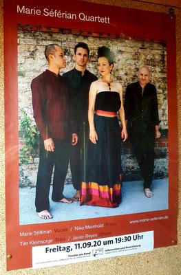 Plakat für die Ankündigung des Marie Séférian Quartetts