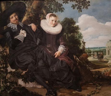 Frans Hals: Hochzeitsporträt eines jungen Paares (Isaac Abrahamsz Massa und Beatrix van der Laan), um 1622
