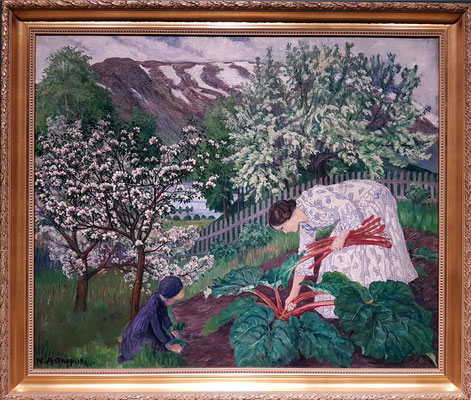 Nikolai Astrup (1880-1928, NO): Rhubarb (Rhabarber), 1911 (-1921) (KODE, Kunstmuseene i Bergen)