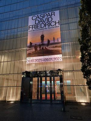 Plakat für die Kunstausstellung Caspar David Friedrich und die Düsseldorfer Romantiker