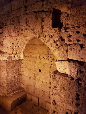 Engelsburg, Aufgang in der Burg, Grabkammer im Zentrum des alten Hadrian-Mausoleums