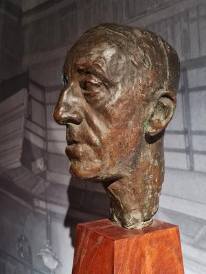 Georg Kolbe (1877-1947): Porträt Henry van de Velde, Bronze 1913