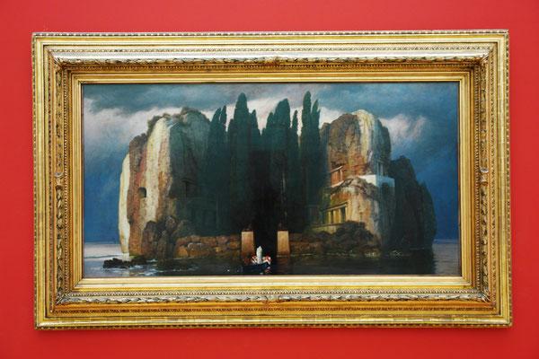 Arnold Böcklin (1827-1901): Die Toteninsel, eine der insgesamt 5 Fassungen, zwischen 1880 und 1886