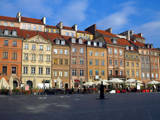 Rynek Starego Miasta, SO-Seite des Marktplatzes