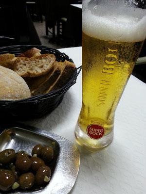 Retaurante O Apeadeiro, portugiesisches Bier Super-Bock