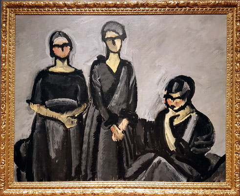 Harald Giersing (1881-1927, DK): Three Ladies in Black, 1922