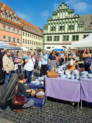 Töpfermarkt Weimar am 4./5.9.2021 auf dem historischen Marktplatz