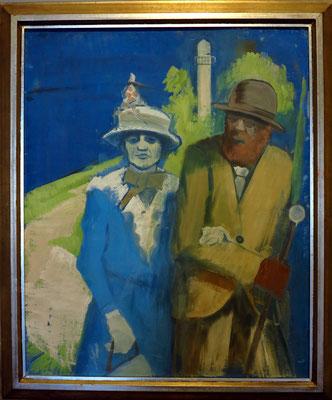 István Farkas: Spaziergang am Wasserturm, 1934