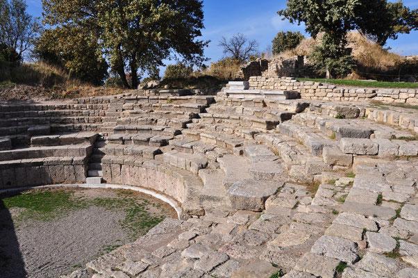 Das Odeion (Theater C) aus römischer Zeit ist noch relativ gut erhalten.